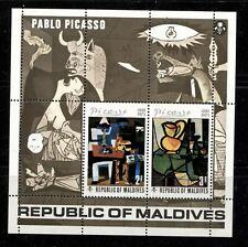 MALDIVE ISLANDS 1974, ART, PAINTINGS: PICASSO, Scott 495 SOUVENIR SHEET, MNH