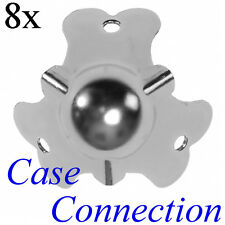 8x Kugelecke / Boxenecke - 41mm - klein # Stahl - verzinkt # Ball Corner small