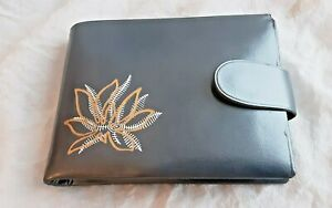 LADY BUXTON VINTAGE WALLET GRAY METALLIC NEW W/OUT TAG SADDLE COWHIDE LEATHER