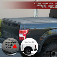 For 2009-2018 Dodge Ram 5.7 Ft Bed Low Profile Hard Tri Fold ABS Tonneau Cover