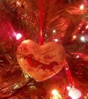 1991 Hallmark Keepsake Ornament In Box Christmas Sweetheart Porcelain Heart