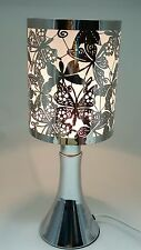 Fragrance ** Stainless Steel Table Touch Lamp NButterfly (White) Silver color