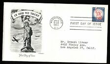 1954 FDC Statue of Liberty Artmaster Cachet Envelope Addressed