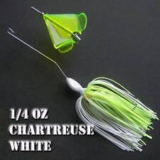 Buzzbait Quad 1/4 oz CHARTREUSE WHITE buzz bait buzzbaits. KVD trailer hook