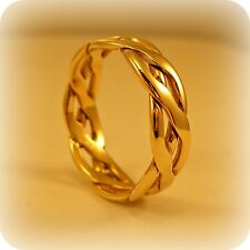 9 carat Gold Celtic style Band
