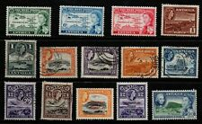 Antigua 1953/61 QE2 selection of 14 to 30c mint & used.