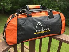 Tennis Head Duffle Bag Racquet Sport Large Shoulder Bag - Orange Black
