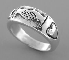 JAMES AVERY STERLING SILVER DOUBLE HEART FRIENDSHIP RING SIZE 5