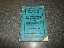 Rare Vintage Road Atlas+Route Guide 100 Miles Round Bradford