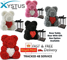 More details for heart design rose teddy bear 25cm & 40cm with gift box