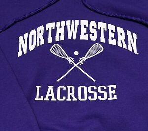 Vintage Northwestern University Lacrosse Sweat Shirt/ Hoodie  Sz: L