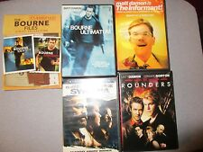 Five movie lot Matt Damnon The Informant,Rounders,The Bourne files,Syriana*