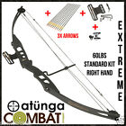 NEW EXTREME BLACK 60LBS COMPOUND BOW & ARROW STARTER KIT, HUNTING TARGET ARCHERY
