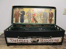 VINTAGE DETMER WOOLENS SALESMAN SAMPLE STORE DISPLAY STORAGE BOX
