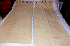 Dunelm, Buttermilk, linen finish, lined, eyelet curtains. size 46''W x 54''L.