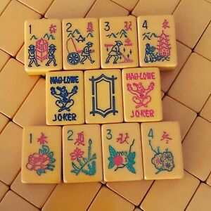Vintage Bakelite Mah Jongg Set by Mah Lowe 152 Tiles Mahjong