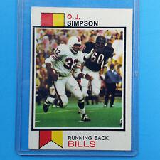 O.J. Simpson 1973 Topps #500 NFL Football Card Running Back Bills ~ Ungraded