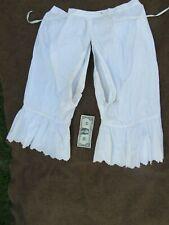 SCARCE Antique Ladie's Victorian OPEN BOTTOM Pantaloons, Cotton, Underwear, 1875