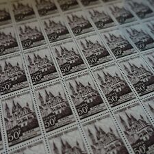 FEUILLE SHEET ABBAYE AU HOMMES DE CAEN N°917 x50 1951 NEUF ** LUXE MNH COTE 300€