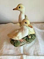 """Vintage Masterpiece Porcelain """"TWO DUCKLINGS"""" Figurine by HOMCO *1982  Ex. Cond."""