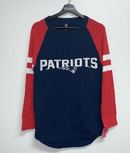 NFL New England Patriots Lightweight Tunic Knit Sweater Womens Size M Navy Blue