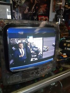 """RCA 13"""" Color TV SDTV See Through CLEAR Prison J13805CL RETRO GAMING W/ SOUND"""