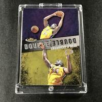SHAQUILLE O'NEAL SHAQ 1999 TOPPS FINEST #D11 DOUBLE DOUBLE INSERT CARD LAKERS