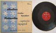 "Finlandia Op27 European Sym Orchestra 10"" LP Merit M-1-8-A"