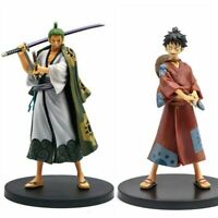 17cm Anime One Piece Figures Monkey D Luffy Roronoa Zoro PVC Action Figure