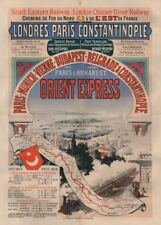 JULES CHERET Orient Express, first poster ever issued, France, 1888