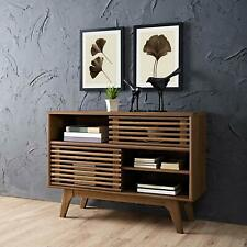 Rander Mid-Century Modern Two-Tier Display Stand in Walnut