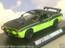 GREENLIGHT 1/43 LETTY'S DODGE CHALLENGER R/T GREEN/BLACK FAST & FURIOUS 7 86230