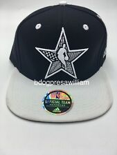Adidas NBA NYC 2015 All Star On Court Snapback Hat Cap Color Black White