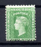 New South Wales 1882-97 3d green SG#226d mint MH WS16587