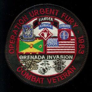 Operation Urgent Fury 1983 Grenada Invasion Veteran Patch CT3