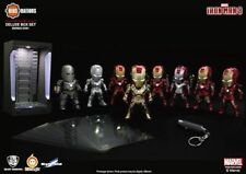 Kids Nation Iron Man DX01 LED Plugy Mini Figure Set of 8 + Hall of Armour