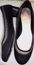 NWT~M&S COLLECTION INSOLIA FLEX~ black faux suede shoes.size 5.1/2,SPARKLE~