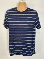 MENS FAT FACE LARGE NAVY MIX STRIPED SHORT SLEEVED CREW NECK CASUAL TOP T-SHIRT
