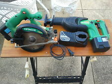 HITACHI KOKI CORDLESS RECIPROCATING SAW & CORDLESS CIRCULAR SAW SET