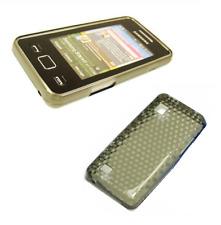 Silikon Tasche Rumpf gel schwarz Diamant ~ Samsung GT S5260 2-Sterne-