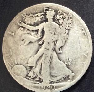 1920-S Liberty Walking Silver Half Dollar U.S. Coin A3864