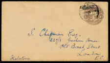 Yx55 Mexico Ps Postal Env 10ctv W / Eagle E62 Mex Df > S.Chapman, Londres 1900