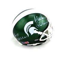 Morten Andersen Signed Michigan State Spartans Schutt Mini Helmet - Go Green