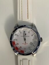 Tommy Hilfiger Watch White & Red Face & White Silicone Band