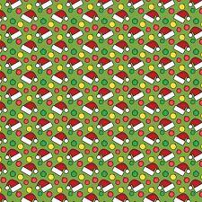 Tela impresa arco A4 Sombreros De Navidad Santa & Bolas CM1 hacer Brillo Arcos