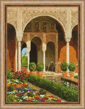 RIOLIS 1579  Jardin du palais  Broderie Point de croix compté