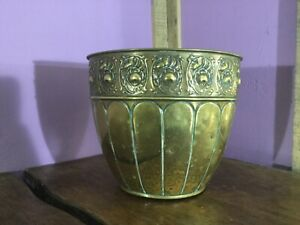 Lovely Arts & Crafts Brass Planter. Large Size. Aspidistra Plant Pot