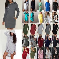 Damen Kapuze Hoodie Sweatshirt Minikleid Kapuzenpullover Pullover Paty Kleider