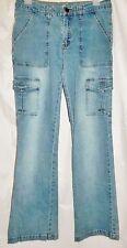 Zen Junior Jeans Cargo Pocket Juniors Blue Stretch Denim size 9