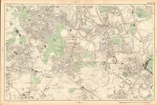 1906 LARGE MAP-BACON -NORWOOD, STREATHAM, TOOTING